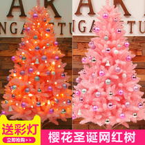 Pink Christmas tree Package 1 5 meters Home Small Large 1 8 meters 2 1ins net red Christmas tree decoration Christmas