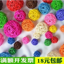 Hand-woven color rattan ball Dry Branch ball decoration ball Willow ball dry flower decoration kindergarten corridor mall ornaments