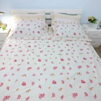 Elegant home spinning low rural style cotton bed cotton twill printing double 1 M 8 four-piece variety