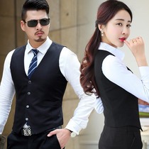 2019 spring and autumn Korean version of the short paragraph Vest Men and women slim thin suit professional wear vest jacket overalls waistcoat