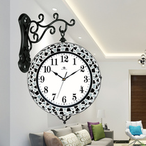 Weimeishi living room home quartz clock fashion creative silent clock modern simple double-sided wall clock.