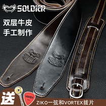 soldier Soldier guitar strap leather ballad bass electric guitar strap acoustic guitar strap strap universal