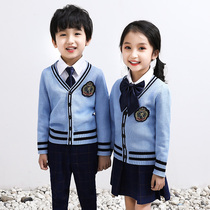 Kindergarten clothes spring and autumn school students class clothes three-piece childrens games British style school uniforms autumn winter suit