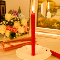 Everlasting household lighting candle daily ordinary candle red white candle white red rod wax