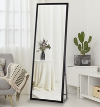 European-style floor mirror solid wood dressing mirror clothing store fitting mirror home full-length mirror dormitory mirror simple wall mirror