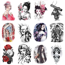 Tattoo stickers waterproof men and women South Korea durable 3D invisible simulation flower arm sexy tattoo stickers body painting