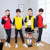 Kindergarten clothing spring and autumn primary school students school uniforms sportswear suits jackets three sets of childrens spring and autumn clothing