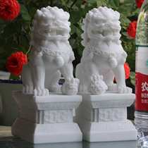 Stone Lion A pair of home watchdog townhouse Evil Cemetery feng Shui Home Office Decoration crafts Decoration