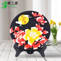 Mid-Autumn Festival gift flower and Moonlight crafts housewarming new residence porch wine cabinet creative ornaments carbon sculpture custom logo