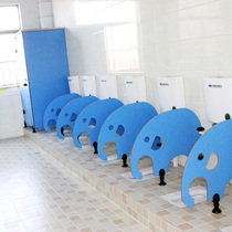 Kindergarten toilet toilet partition childrens restroom anti-pt cartoon partition urinal squatting bezel.