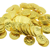 Pirate treasure toys simulation coins plastic game coins mixed childrens reward props lottery chips fake coins