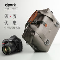 dpark SLR camera bag shoulder large capacity waterproof men and women micro single Canon Nikon Professional messenger bag