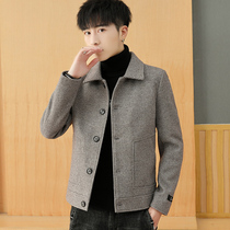Men's autumn and winter jacket Jacket leisure handsome 2019 New woolen coat men's short lapel trench coat men