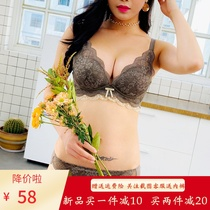 Underwear female small chest gathered to collect vice breast without steel ring anti-sagging thick adjustment type bra set sexy bra female