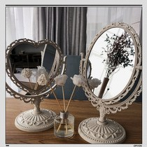 European love simple mirror makeup net red double-sided mirror table-to-bedroom bedroom beauty mirror dressing mirror.