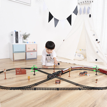 Yue Cheng Thomas small train set track electric children 3-6 years old rollercoaster train track toy boy