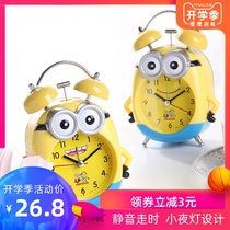 Alarm clock creative cartoon student bedside mute cute children special boy personality lazy luminous small alarm clock