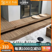 Liang was anti-corrosion wood flooring outdoor terrace depth carbonized wood square ceiling plate sauna plate nostalgic antique wood