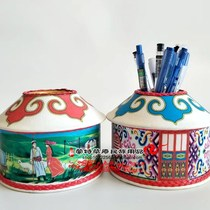 Yurt pencil-barrel Inner Mongolia characteristic handicraft pencil pen grassland tourist souvenir 3 large quantity discount