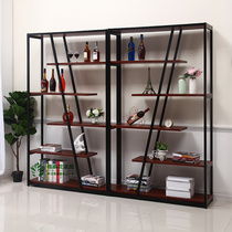 Floor-standing wine cabinet showcase display stand simple creative wine rack display cabinet living room shelf home commercial