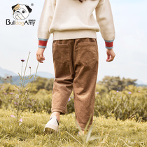 Girls pants glutton dog 2019 autumn new incense children's clothing children loose thin pants casual pants
