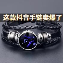 Luminous twelve constellations bracelet male and female students Korean version of the simple brothers girlfriends couple bracelet birthday gift hand rope