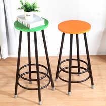 Front bar table round stool step stool solid wood stool bar stool bar stool highchair stool seat