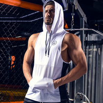 LVFT fitness sports Tide brand quick-drying stretch loose sleeveless hooded sweater breathable thin section training vest vest