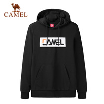 Camel outdoor 2019 new sweater men and women models casual and comfortable breathable long-sleeved sleeve cap printing sportswear