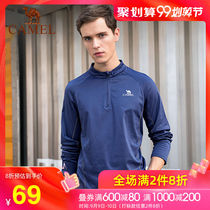 CAMEL Camel sports couple sweater men and women yoga fitness running long-sleeved casual round neck quick-drying shirt autumn