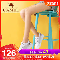 Camel 2019 spring Korean thick white shoes female wild flat shoes sports shoes shoes casual shoes women