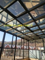 Terrace sun room hollow tempered glass sun room plastic-steel doors and windows Beijing broken bridge aluminum doors and windows sun room