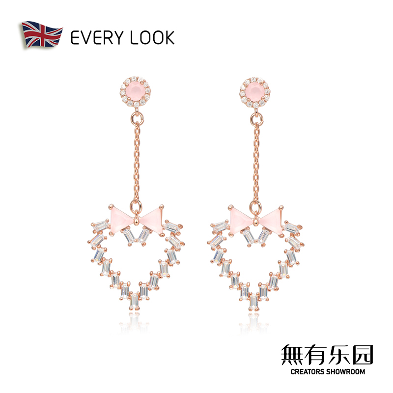 EVERY LOOK love earrings womens long silver needle temperament 2019 new trend 2020 high-end feel net red earrings.