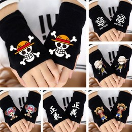 King of the Sea Thieves Gloves Choba raised his hand road flying animation gloves half-finger male and female student gloves exposed to keep warm