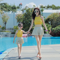 2019 New South Korean ins mother and Child split skirt fashion girls swimsuit swimsuit mother and daughter parent-child swimsuit