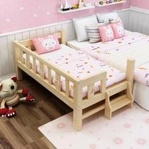 Baby cradle bed mattress wood simple flip solid wood fence finishing princess bed Assembly rattles handmade wood