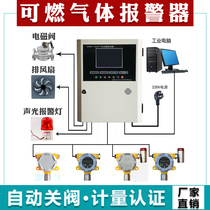 Industrial explosion-proof combustible gas alarm detector natural gas detection leak detector