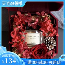 Emma Mollie sends girlfriend Teachers Day exquisite scented candle immortal flower gift box fireless new wedding companion hand-in-hand