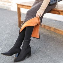 Short hundred knitting season sweet skirt female knitted autumn and winter plus velvet thickening thin lazy lower body