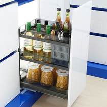 Unihopper Kubo glass-flavored basket kitchen drawer-style storage rack buffer silent multi-layer large capacity.