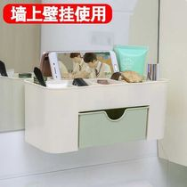 Cosmetics storage box can be hung hanging girl can be hung on the wall cosmetics storage box hanging wall-mounted