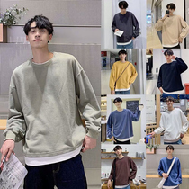 Men's autumn holiday two sweater plus loose loose round neck Korean version of the shirt couple dress bottoming trend set clothes
