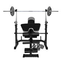 Home barbell bed weightlifting bed fitness equipment Bell stool Dumbbell Set mens sports equipment training device