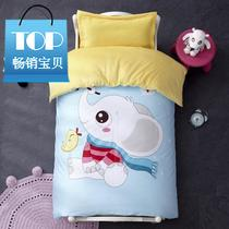Mattress quilt seven sets of baby bed products autumn and winter plus cashmere children sets of multi-piece sets of kindergarten sheets v three six plus