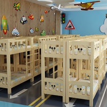 Kindergarten bed lunch break special bed pupils dormitory bunk small table bunk childrens bed