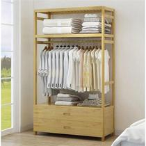 Racks bedroom floor hanging racks drawer storage rack simple modern home coat rack multi-layer solid wood