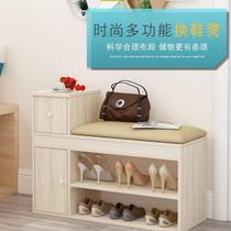 American coat hanger floor with mirror living room solid wood hanger European-style in-house shoe replacement stool multi-functional foyer cabinet.
