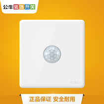Bull Switch Socket Intelligent Human Induction Automatic control switch 100W 30W*220V G28 White