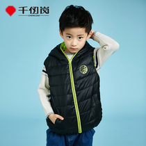 Thousands of Ren Kong 2018 New childrens clothing down jacket sports short men and women down hooded vest 19810
