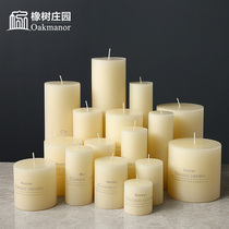 Nordic scented white candle home decoration candle wedding smokeless coarse candle ins romantic table cylindrical wax